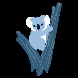 Koala garra oreja nariz árbol redondeado plano