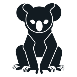 Koala ear sitting claw nose detailed silhouette