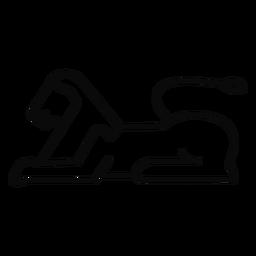 Esfinge del gato l leon trazo