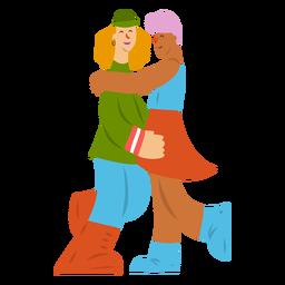 Lady casal par gay saia plana