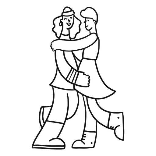Lady couple pair gay skirt stroke Transparent PNG
