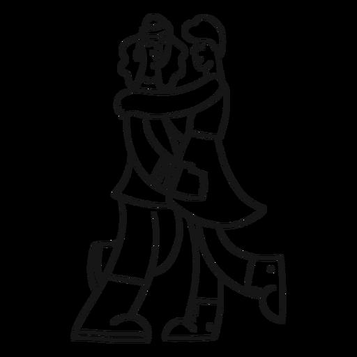 Traje de falda gay de pareja de dama pareja