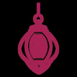 Lâmpada de fogo lâmpada ícone silhueta detalhada
