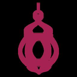 Icono de lámpara lámpara detallada silueta