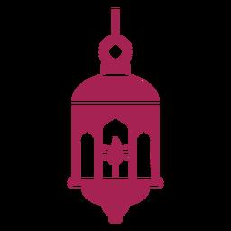 Icono de lámpara lámpara fuego silueta detallada