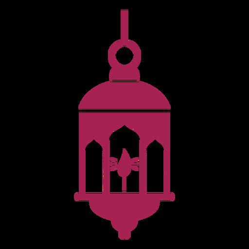 Icono de lámpara lámpara fuego silueta detallada Transparent PNG