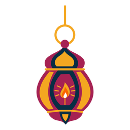 Lâmpada de fogo de lâmpada de ícone plana