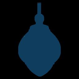Silhueta de lâmpada de ícone de lâmpada