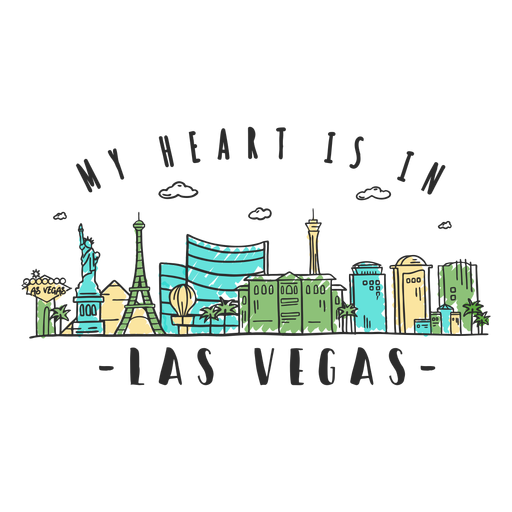 Autocolante Las Vegas Transparent PNG