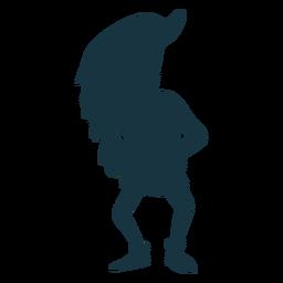 Leprechaun barba gnomo gorra silueta