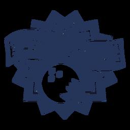 Lassen Sie uns Bowlingkugel-Abzeichenaufkleber rollen