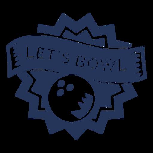 Pegatina con la bola de boliche de Bowl.