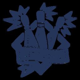 Let's bowl skittle rhomb badge sticker