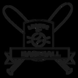 Ligue de golpe de distintivo de bola de bastão de beisebol