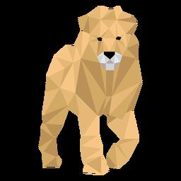 León rey pata rugido melena baja poli