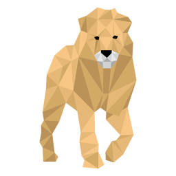 Lion king leg roar mane low poly