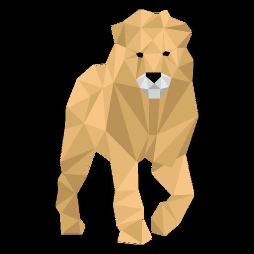 Lion king leg roar mane low poly Transparent PNG