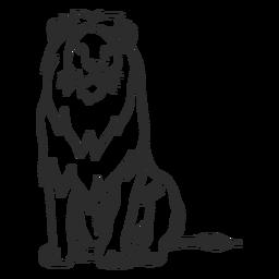 Rabisco de cauda de rei leão rabisco