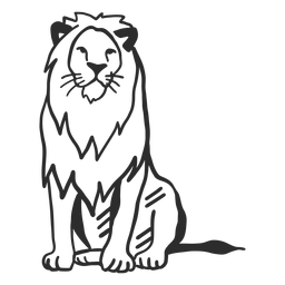 Rabisco de juba rei leão