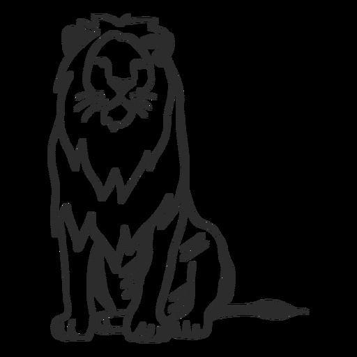 Lion king mane tail doodle Transparent PNG