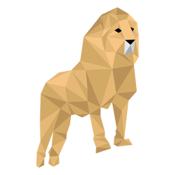 Lion king roar mane leg low poly