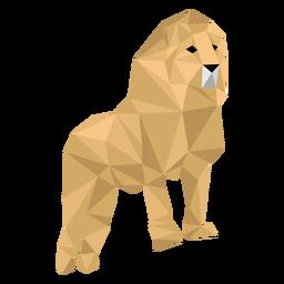 Rey león rugido melena pierna baja poli
