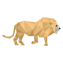 Lion king roar mane tail low poly