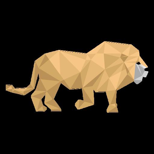 Lion king roar mane tail low poly Transparent PNG