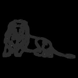 Doodle de juba de rabo-rei leão