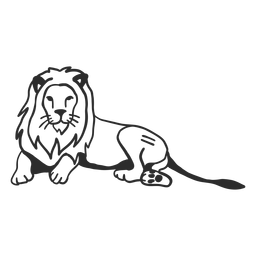 Lion king tail mane doodle