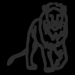 Rabo de leão rei rabo doodle