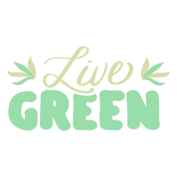 Live green leaf badge sticker