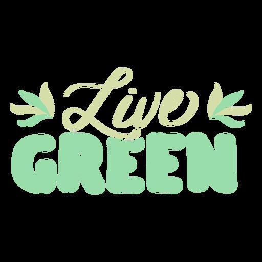 Live green leaf badge sticker Transparent PNG