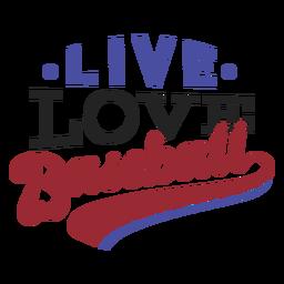 Etiqueta engomada viva de la insignia del punto del béisbol del amor