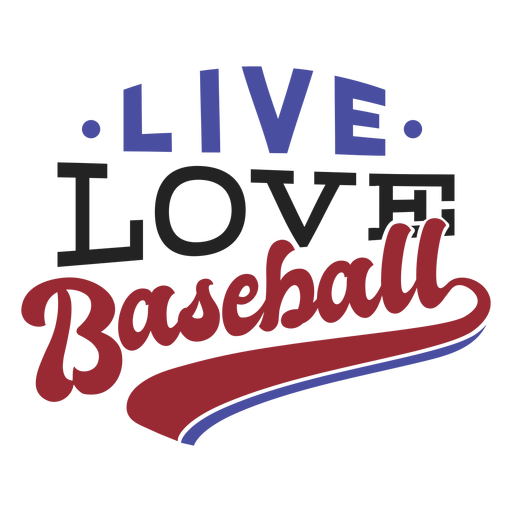 Live love baseball spot badge sticker Transparent PNG