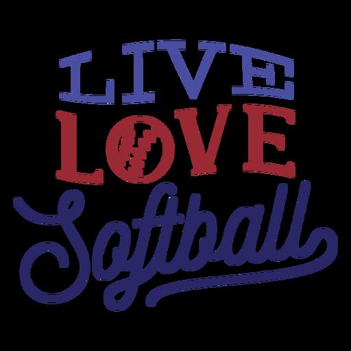 Amor ao vivo softball bola ponto adesivo crachá Transparent PNG