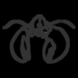 Doodle de garra de antena de lagosta