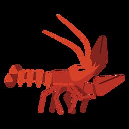 Cauda de garra de antena de lagosta arredondada