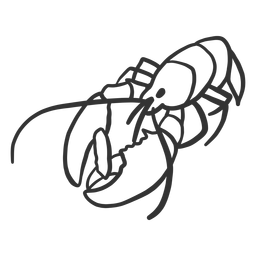 Antena de langosta garra cola garabato