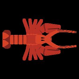 Garra de cauda de antena de lagosta arredondada plana