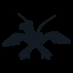 Silhueta detalhada da cauda da antena da cauda da garra da lagosta
