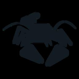 Silhueta detalhada da cauda da suiça da suiça da lagosta da garra da lagosta