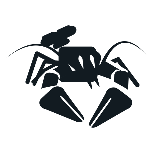 Lobster claw antenna whisker tail detailed silhouette Transparent PNG