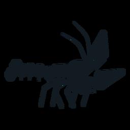 Silhueta detalhada da suiça da cauda da garra da lagosta