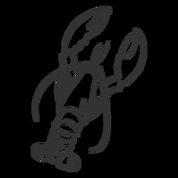 Doodle de garra de antena de cauda de lagosta