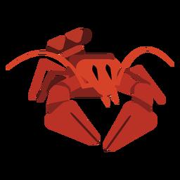 Antena de garra de cauda de lagosta arredondada plana