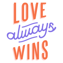 Love always wins stripe sticker