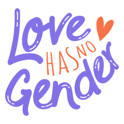 El amor no tiene etiqueta de corazón de género