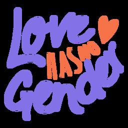 Love has no gender heart sticker