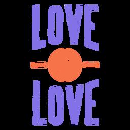 El amor es etiqueta engomada del círculo de la raya del amor